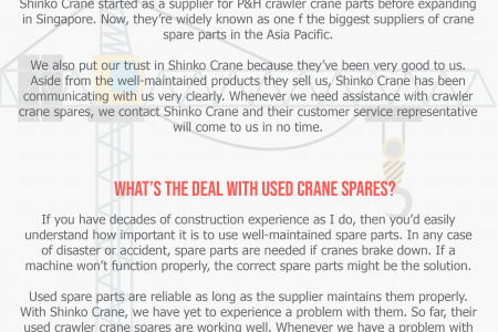 Knowing the Quality of Used Crawler Crane Parts Infographic