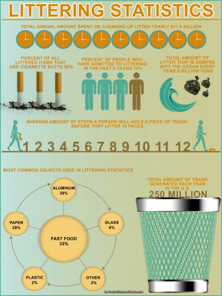 Eye-Opening Statistics on Littering Infographic