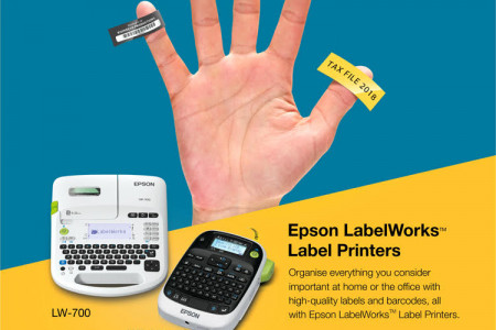 Labels for all your needs, with Epson LabelWorks  Infographic