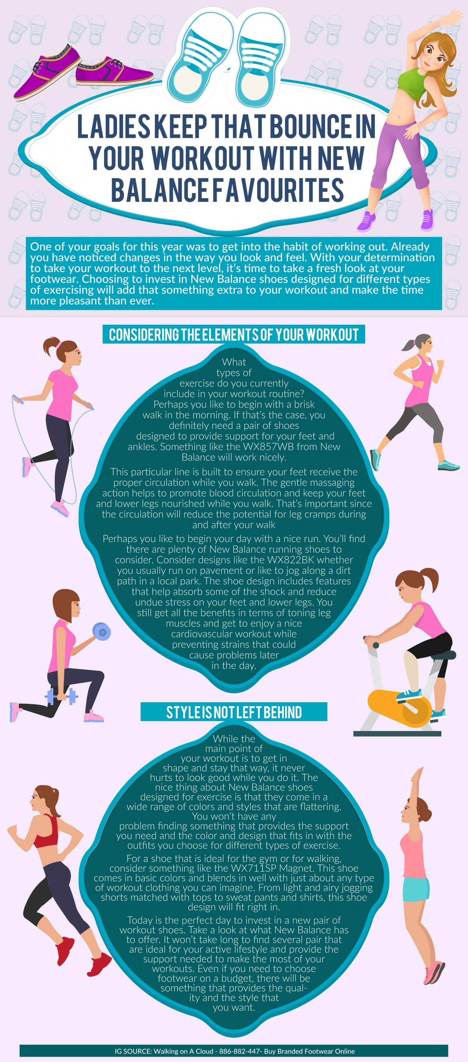 Ladies Keep That Bounce in Your Workout With These New Balance Favourites Infographic
