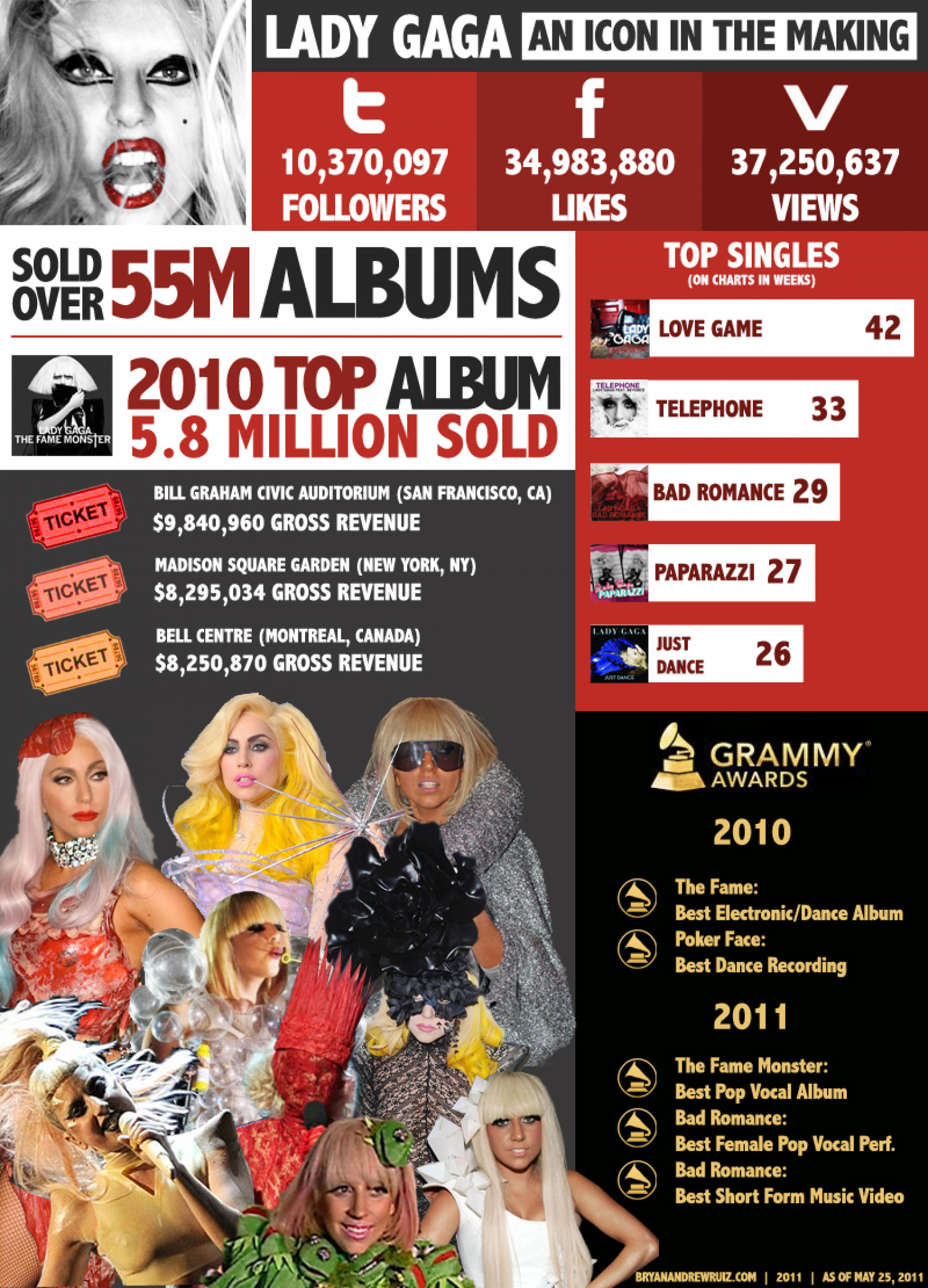 Lady Gaga an Icon in the making  Infographic
