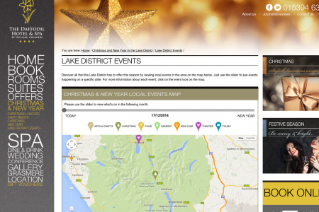 Lake District Christmas Event Planner 2014 Infographic