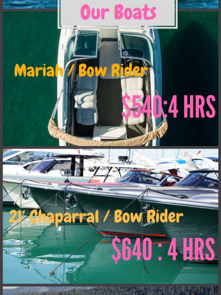 Lake Tahoe Boats Services | Rent A Boat Tahoe  Infographic
