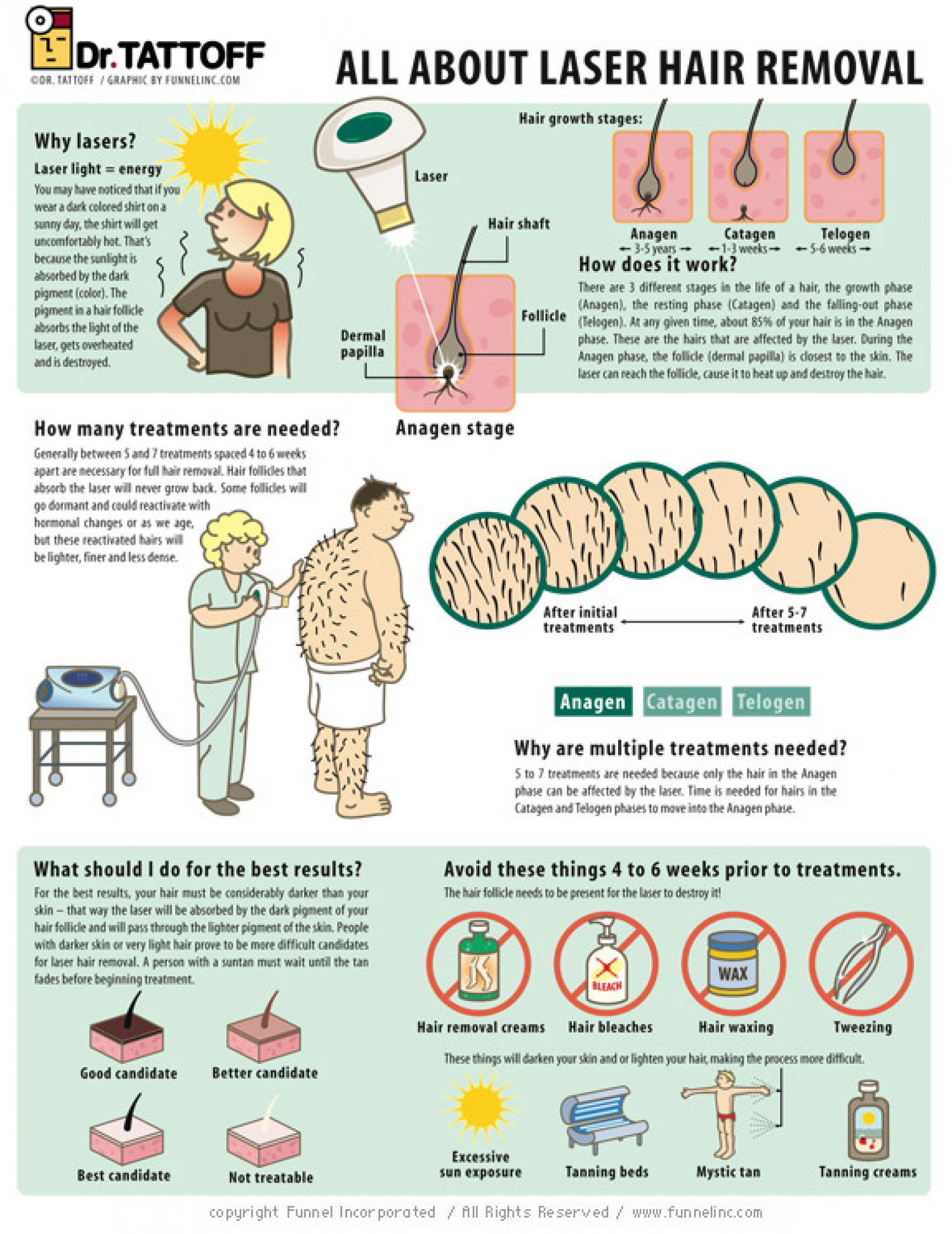 Laser Hair Removal 101 Infographic