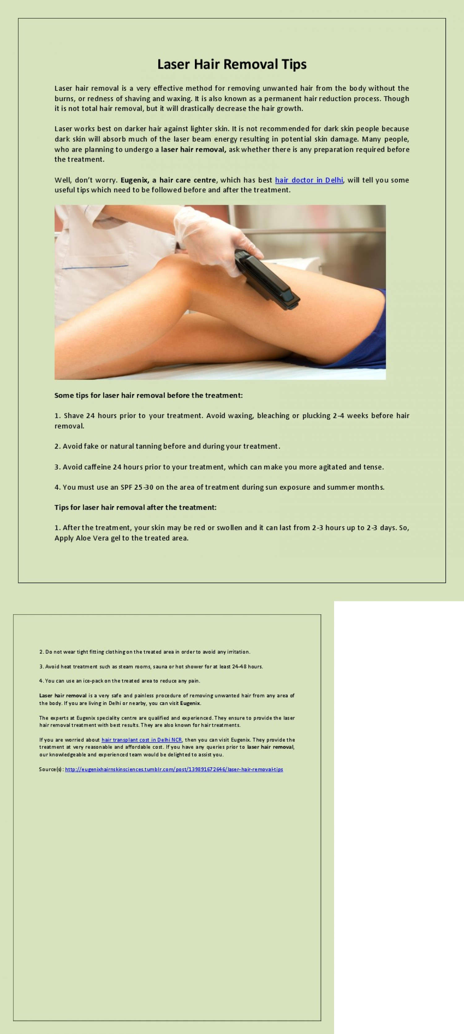 Laser Hair Removal Tips Visual Ly