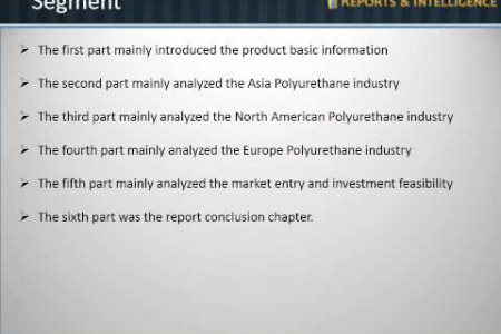 Latest report on Polyurethane Industry Market, Size, Share, Forecast, 2014 by Reports and Intelligence Infographic