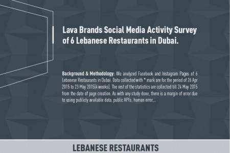 Lava Brands Social Media Activity Survey of 6 Lebanese Restaurants in Dubai Infographic