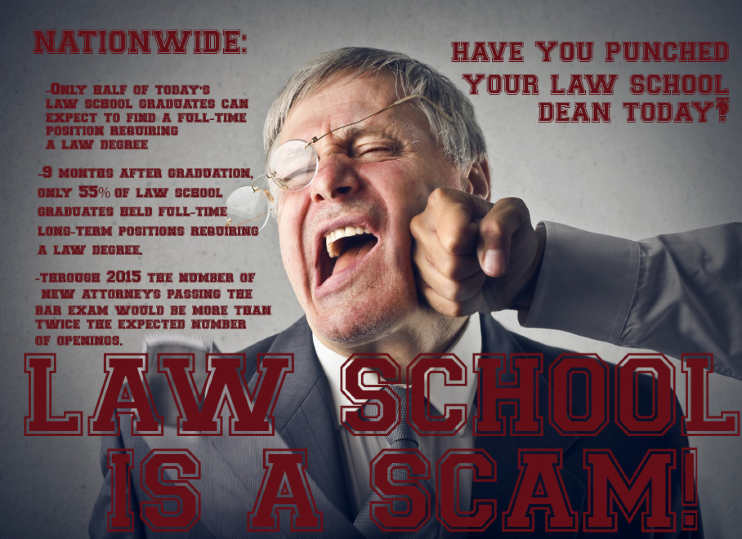 LAW SCHOOL IS A SCAM  Infographic