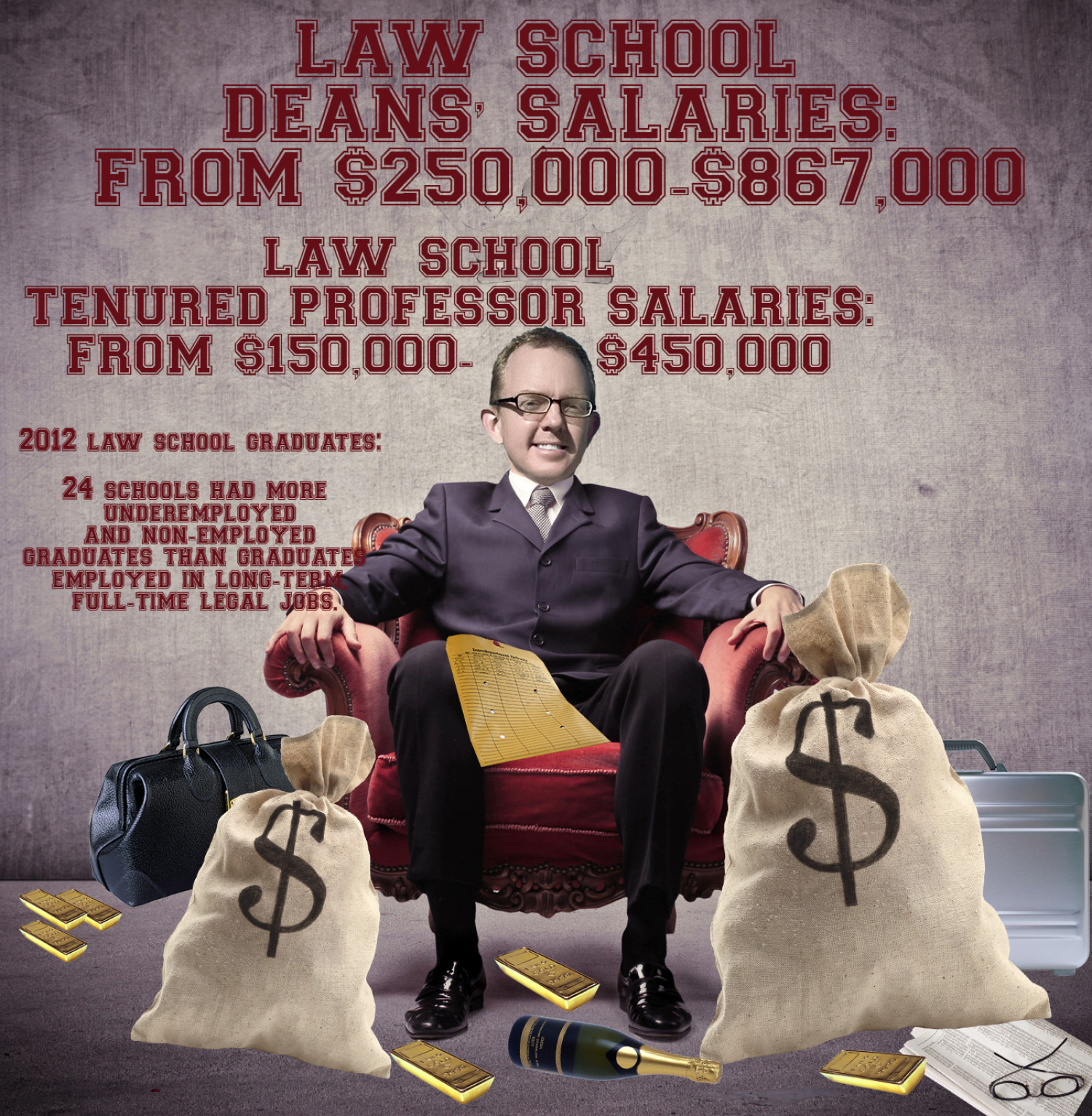 LAW SCHOOL PROFESSOR AND DEAN SALARIES INFOGRAPHIC Infographic