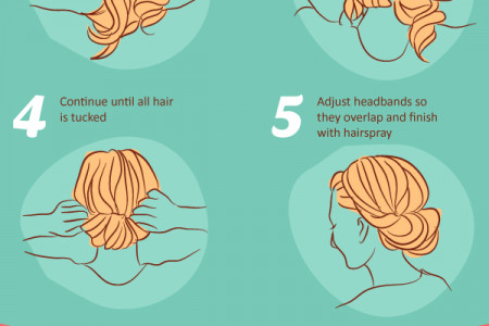 Lazy Girl Hair Hacks Infographic