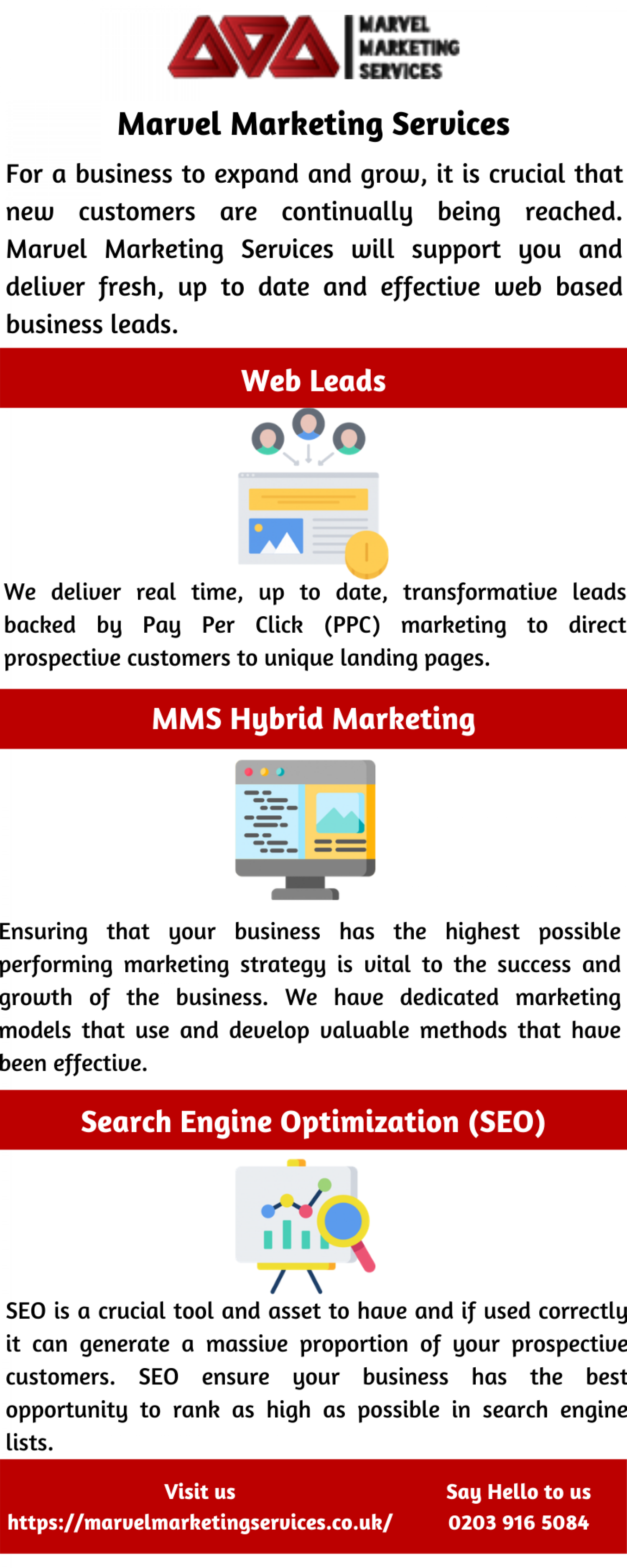 Lead Generation   Web Generated Leads   Marvel Marketing Services Infographic