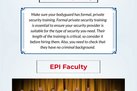 Leading institute for private and armed security training Infographic
