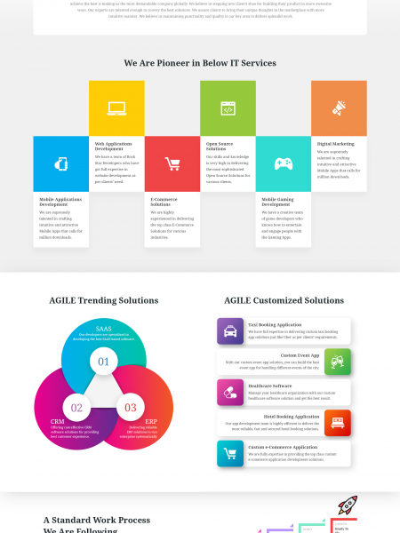 Leading Website and Mobile Apps Development Company in India, USA - AGILE Infoways Infographic