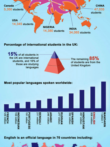 Learn English Abroad  Infographic
