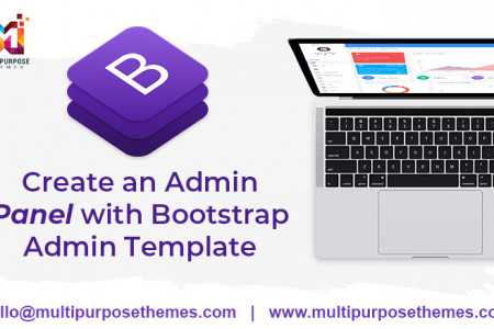 Learn how to create an Admin Panel along with Bootstrap Admin Template Infographic