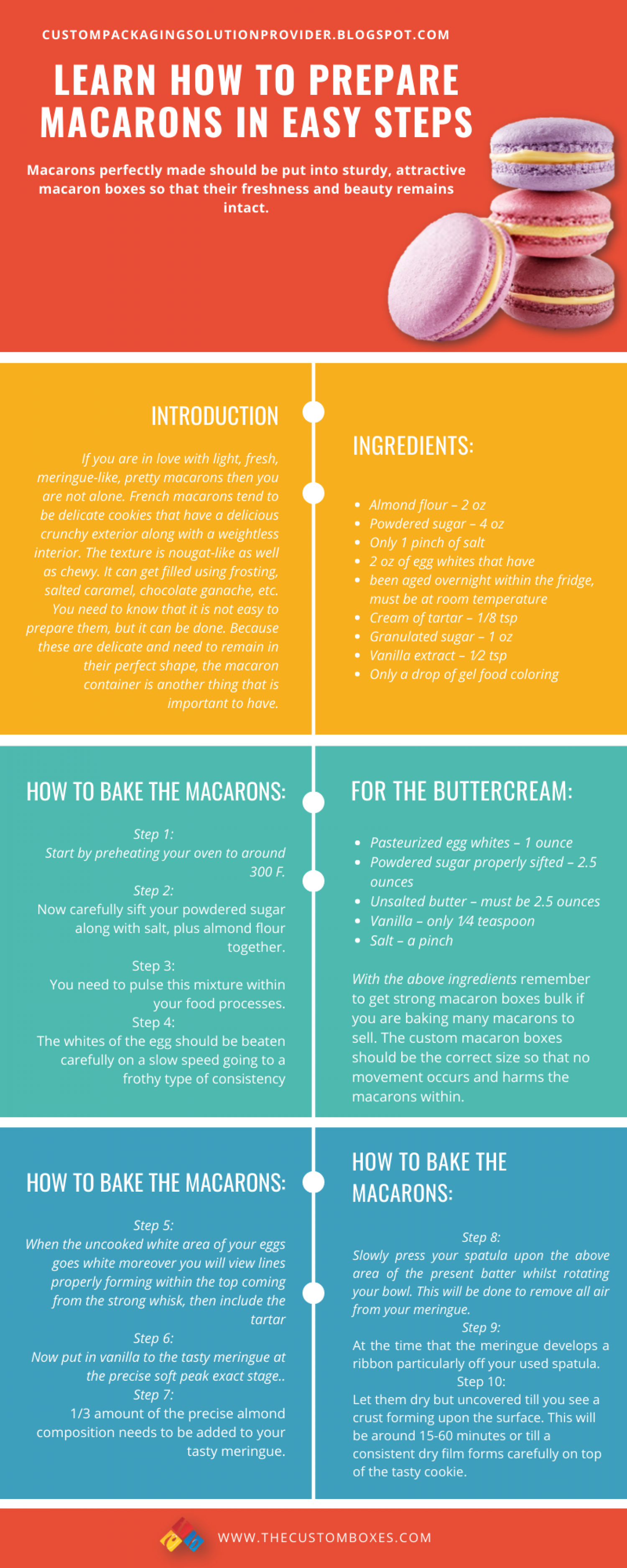 Infographic, Learn How To Prepare Macarons In Easy Steps Infographic
