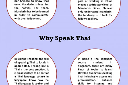 Learn Mandarin and Thai in Singapore Infographic