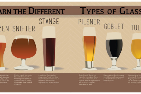 Learn The Different Types Of Glasses Infographic