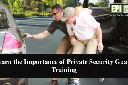 Learn the importance of private security guard training Infographic