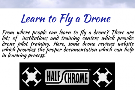 Learn to Fly a Drone Infographic