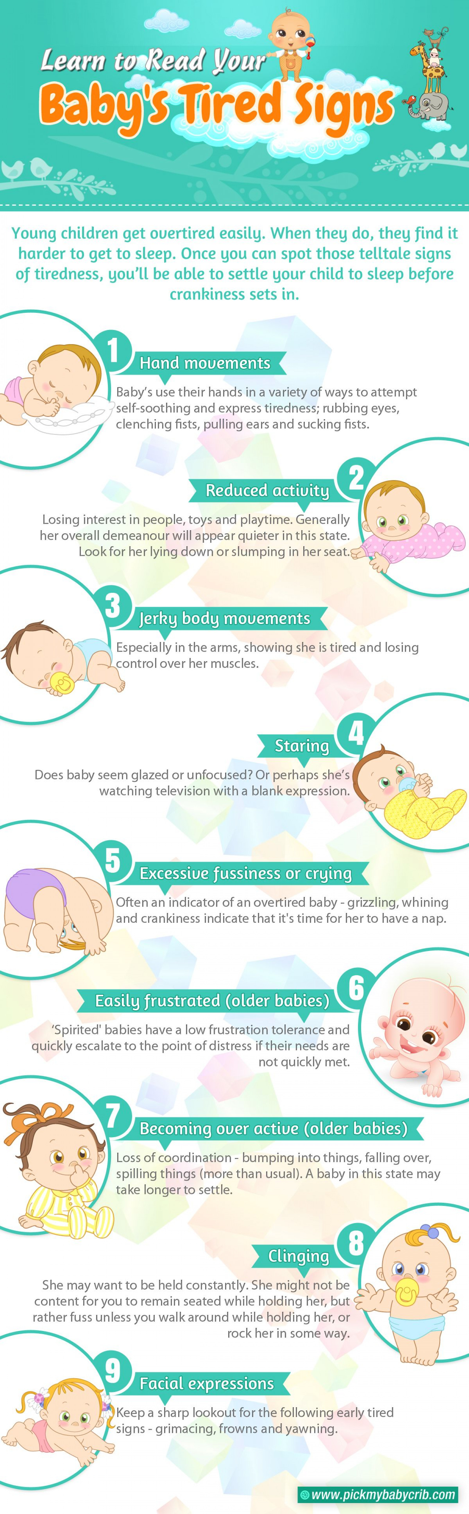 Learn To Read Your Baby's Tired Signs  Infographic
