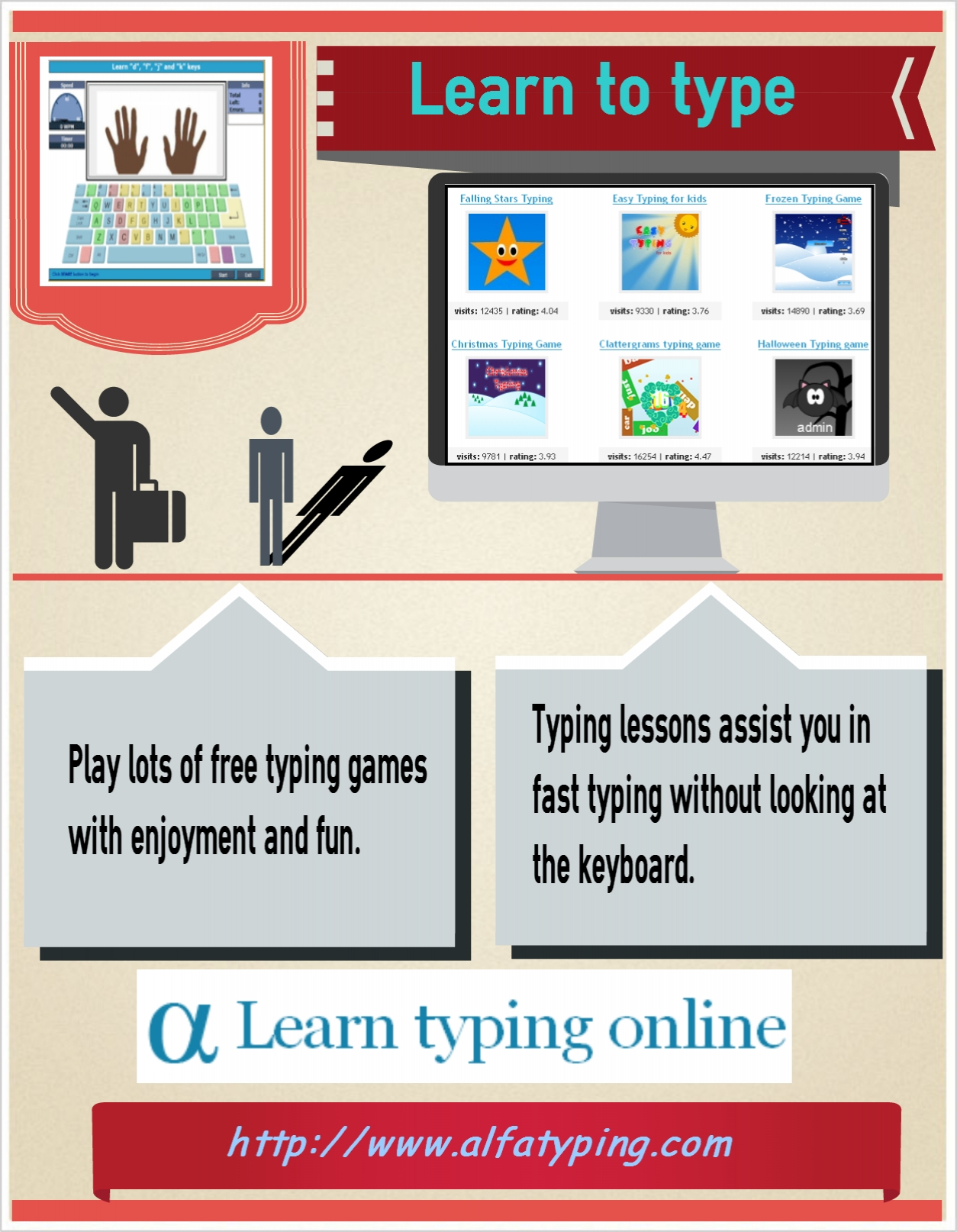 Learn to type with enjoyment and fun   Visual ly