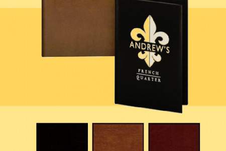 Leather Menu Covers with album style corners. Infographic