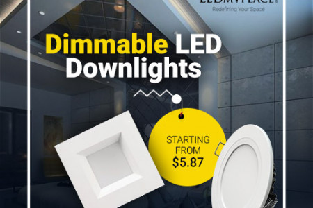 LED Disk Downlight- Serving Better Interior Lighting Infographic