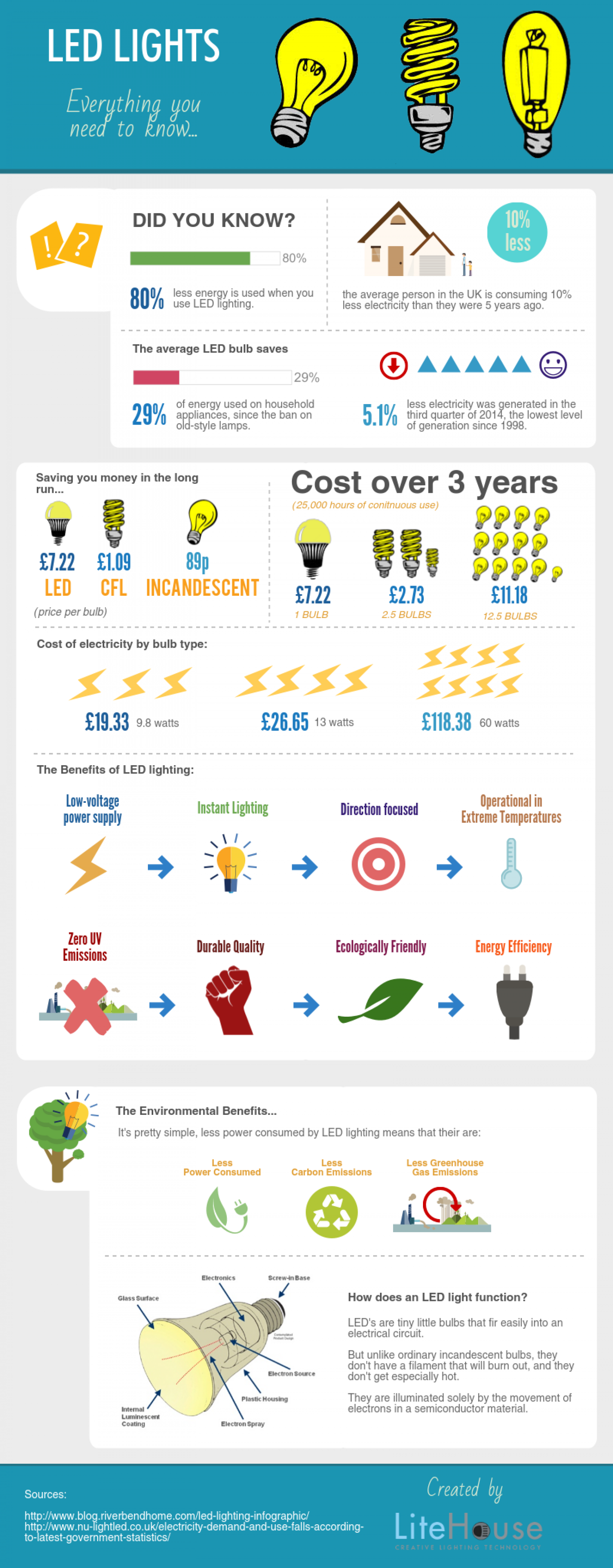 LED Lights: Everything You Need To Know Infographic