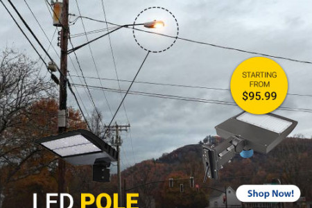 LED Pole Lights  - Perfect Lighting Solution For Your Outdoor Areas Infographic