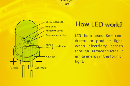 LED Vs Halogen Bulb Infographic