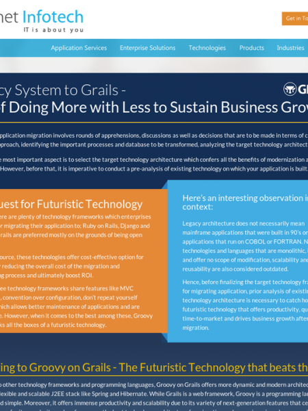 Legacy System to Grails - Art of Doing More with Less to Sustain Business Growth Infographic