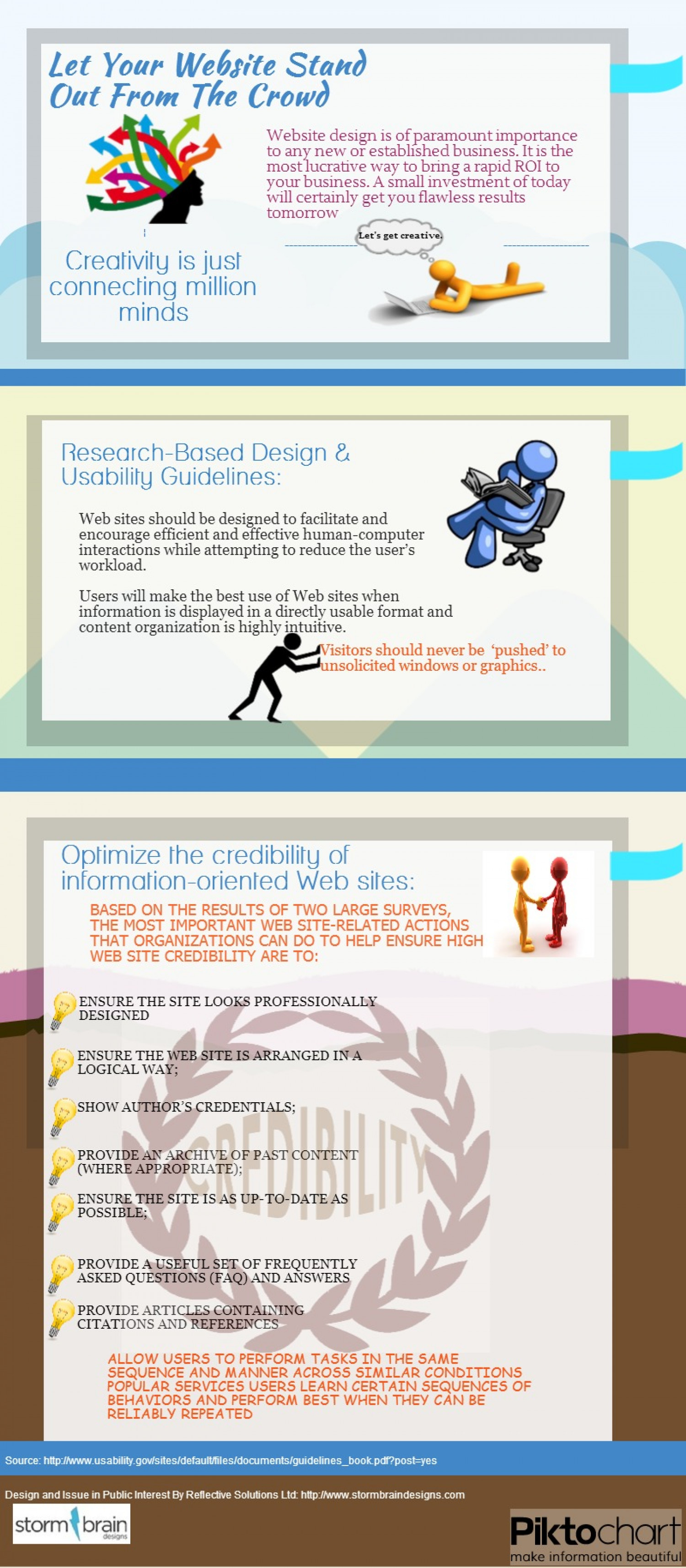 Let Your Website Stand Out From The Crowd Infographic