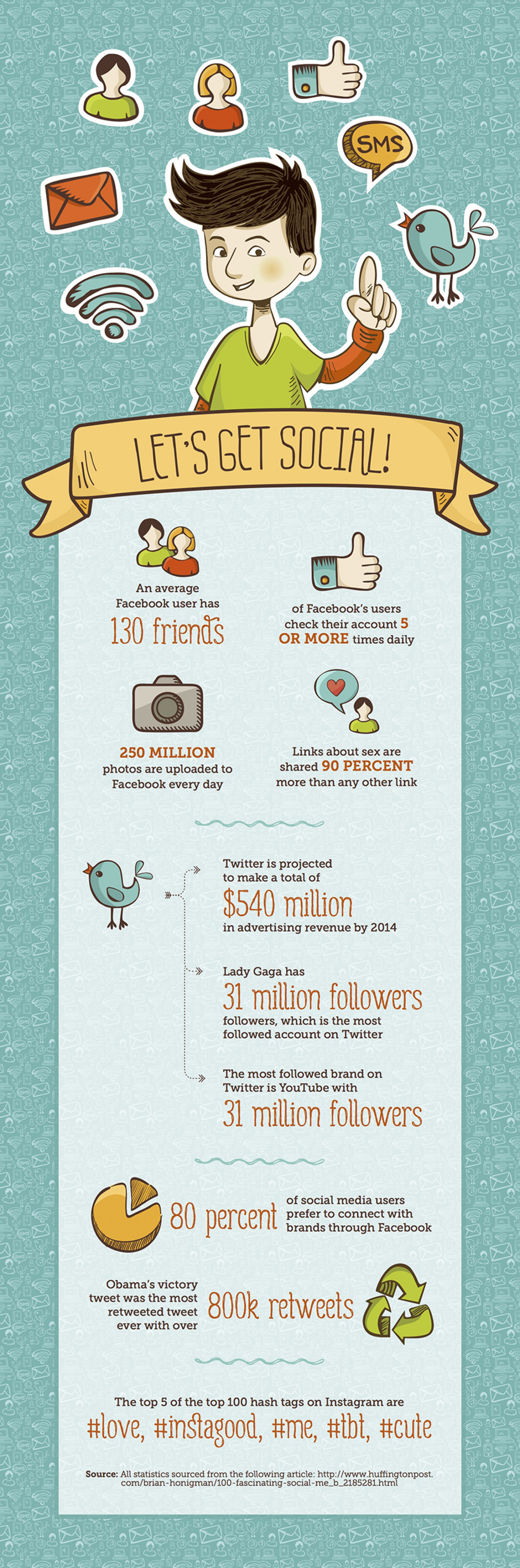 Let's Get Social! Infographic