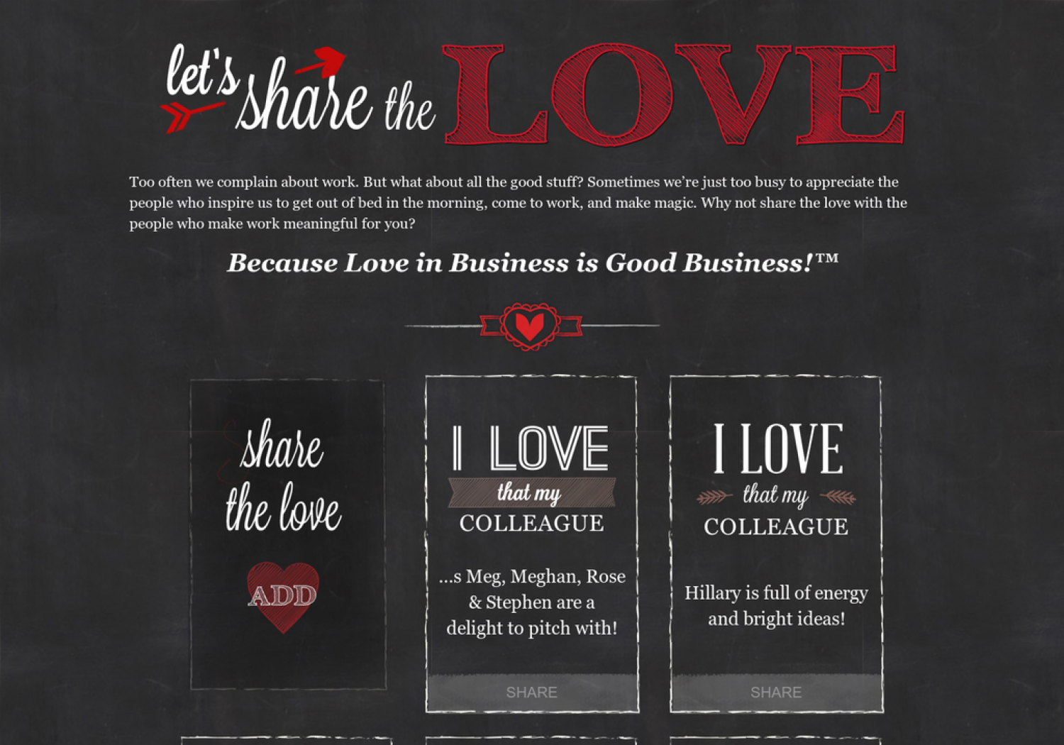 Let's Share the Love Infographic
