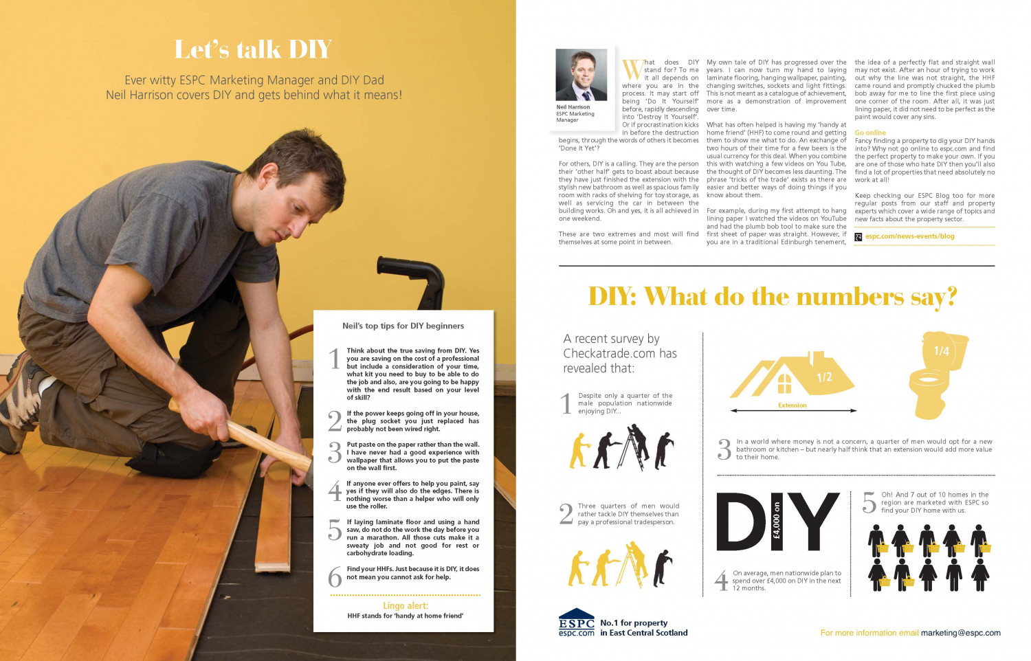 Let's talk DIY Infographic