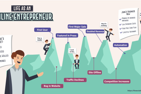 Life of an Online Entrepreneur Infographic