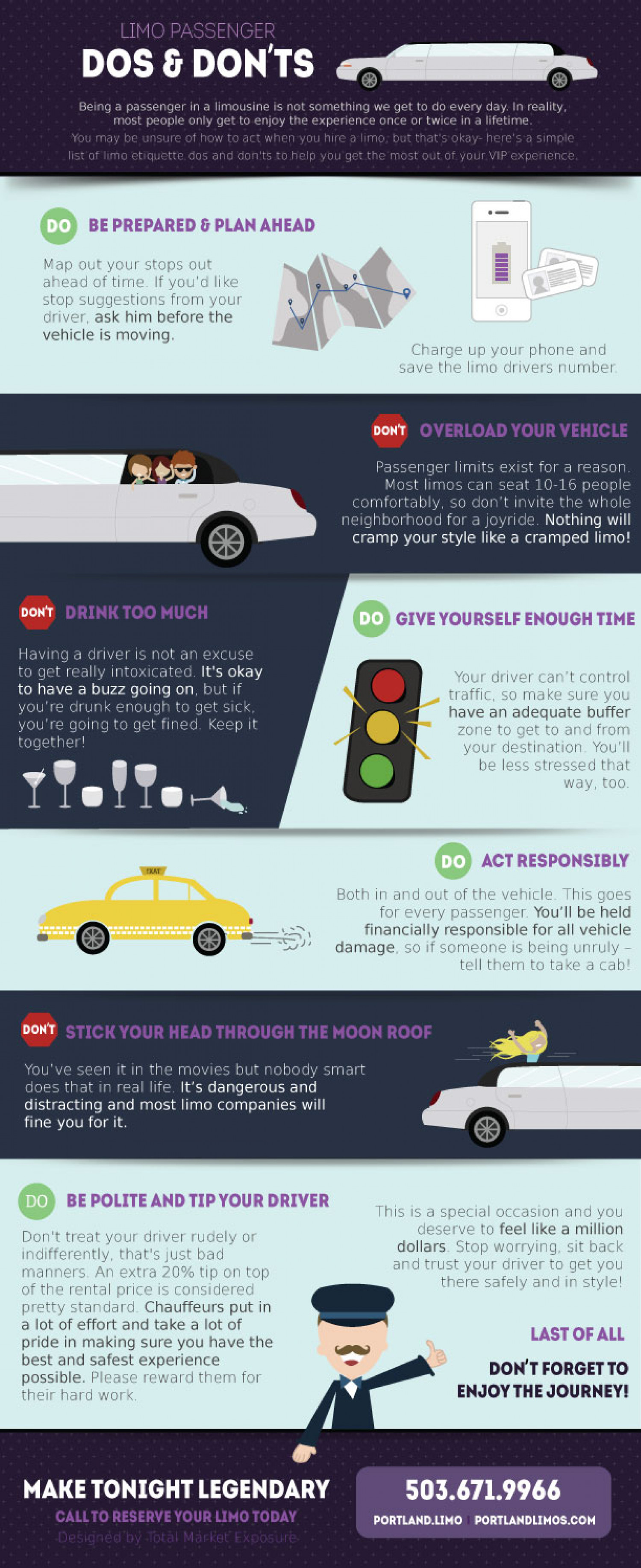 Limousine Do's and Dont's Infographic