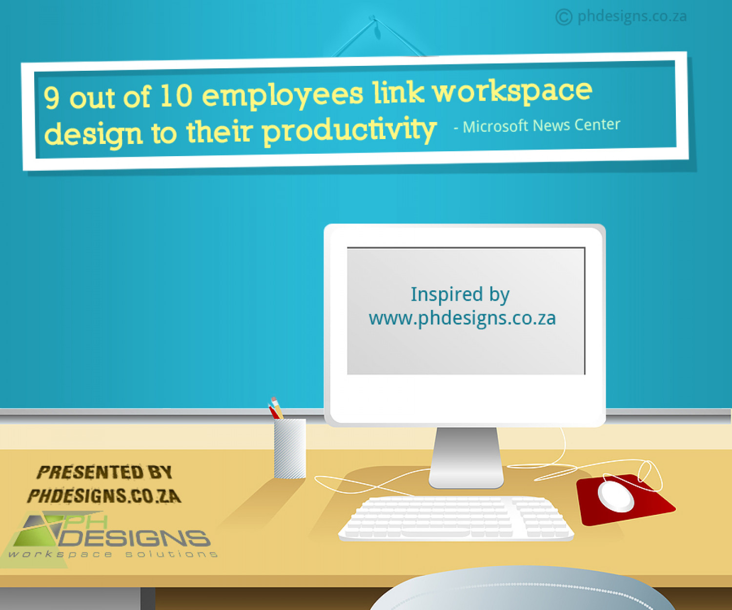 Link between workspace design and productivity Infographic
