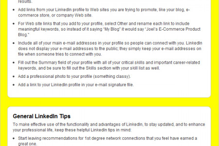 LinkedIn Cheat Sheet For Dummies Infographic