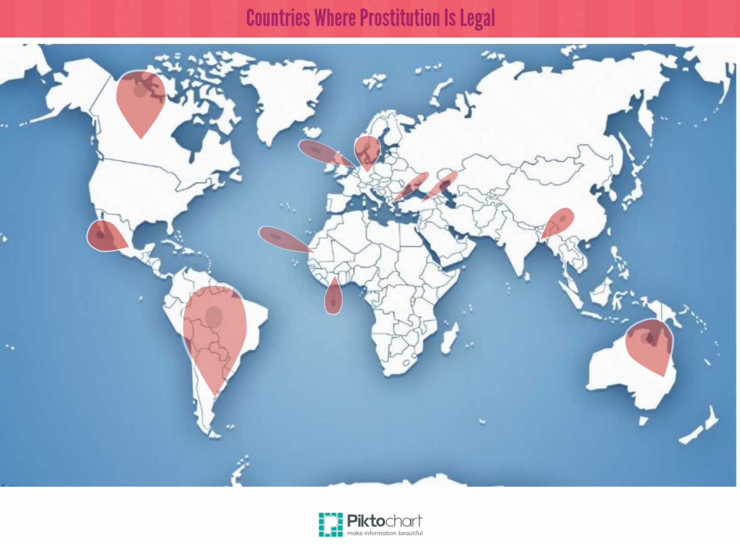List Of Countries Where Prostitution Is Legal Infographic