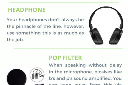 List of Devices to Host A Podcast Infographic