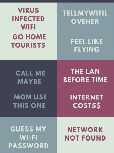 Some of the WiFi Names that are Funny Infographic