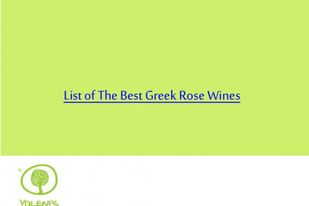 List of The Best Greek Rose Wines Infographic