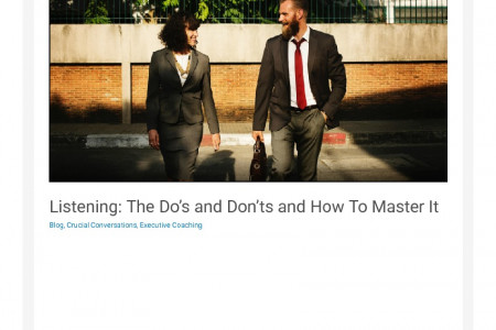 Listening: The Do's and Don'ts and How To Master It Infographic
