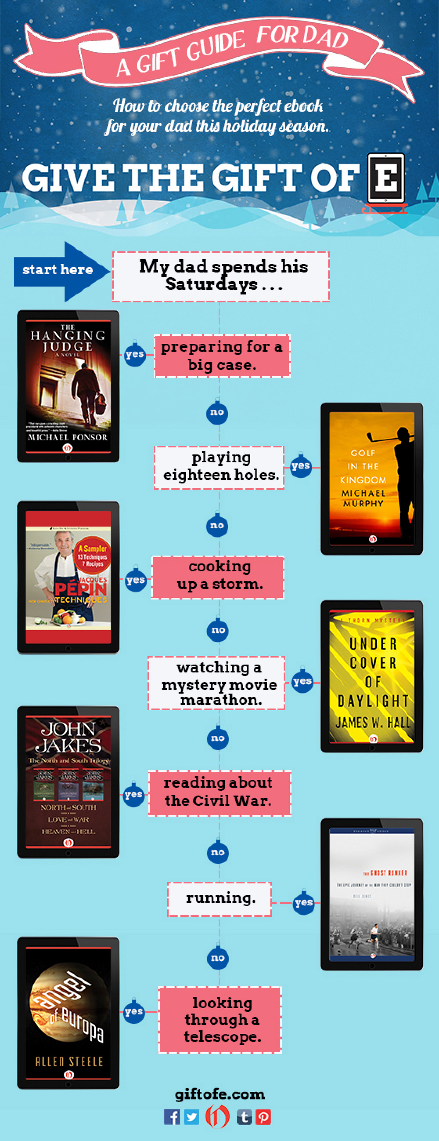 Literary Gift  Guide for Dad Infographic