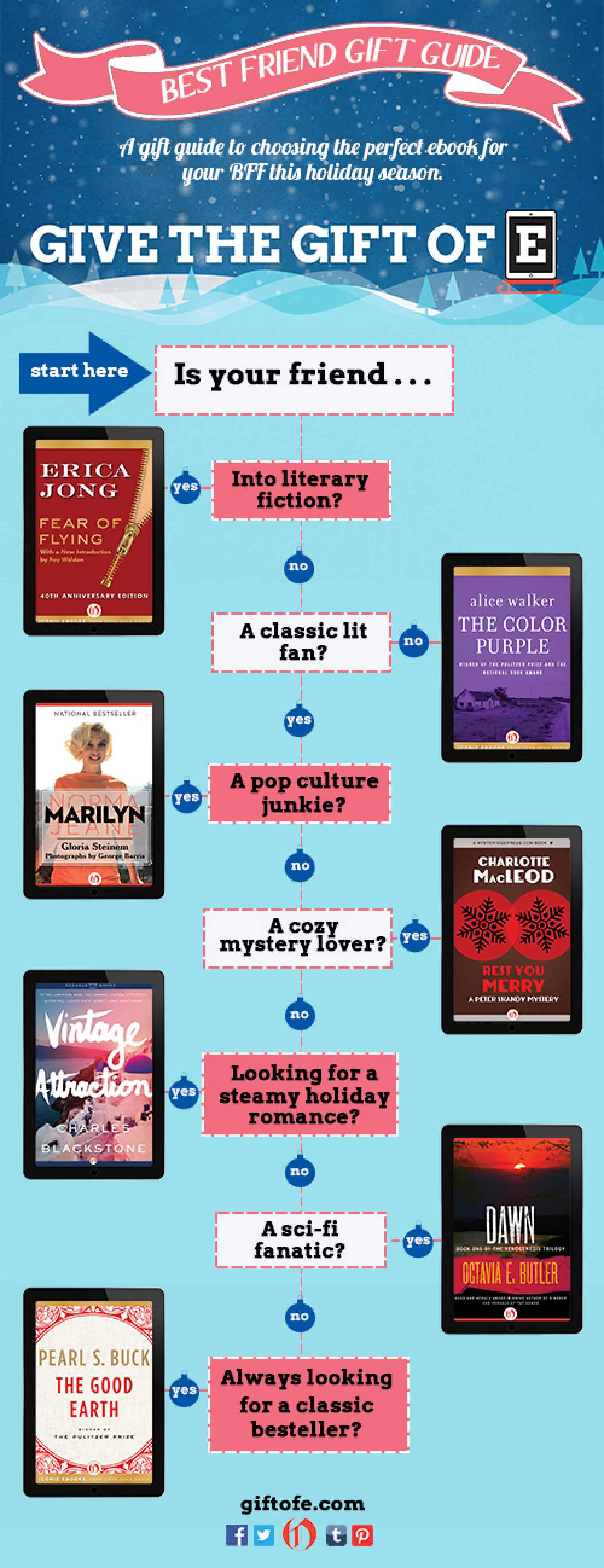 Literary Gift Guide for Your BFF Infographic