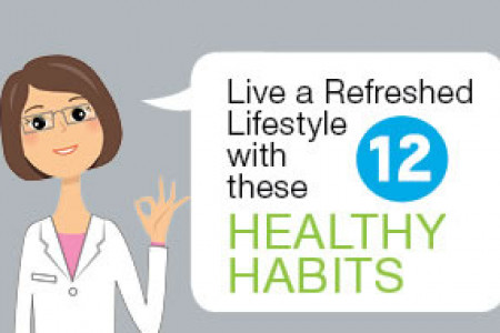 Live a Refreshed lifestyle with these 12 Healthy Habits Infographic