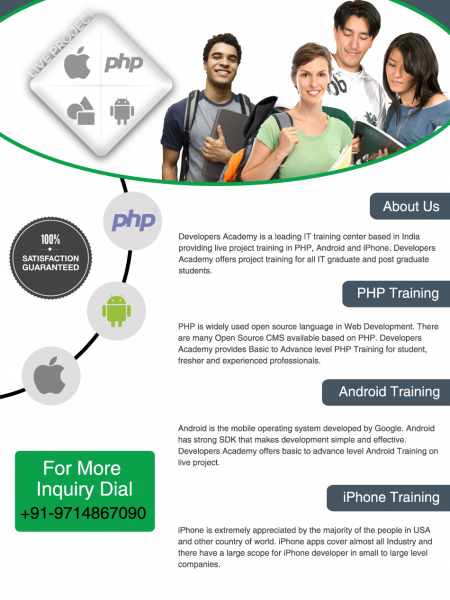 Live Project Training in Ahmedabad Infographic