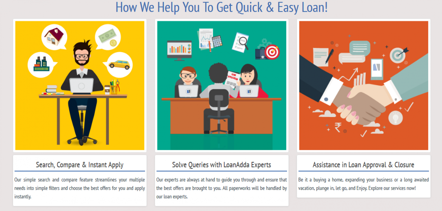 loanadda simple loan flow visual ly